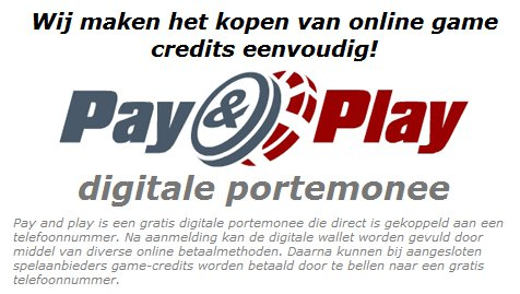 bingolot met pay and play opwaarderen